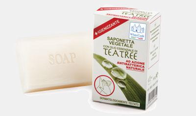Saponetta Vegetale con olio essenziale di Tea Tree White Castle